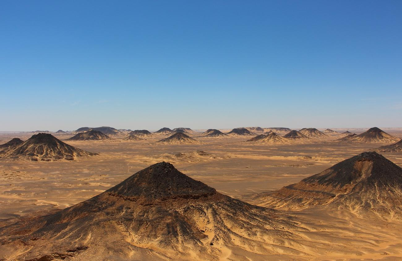 Black Desert Mountains close to Bahariya Oasis