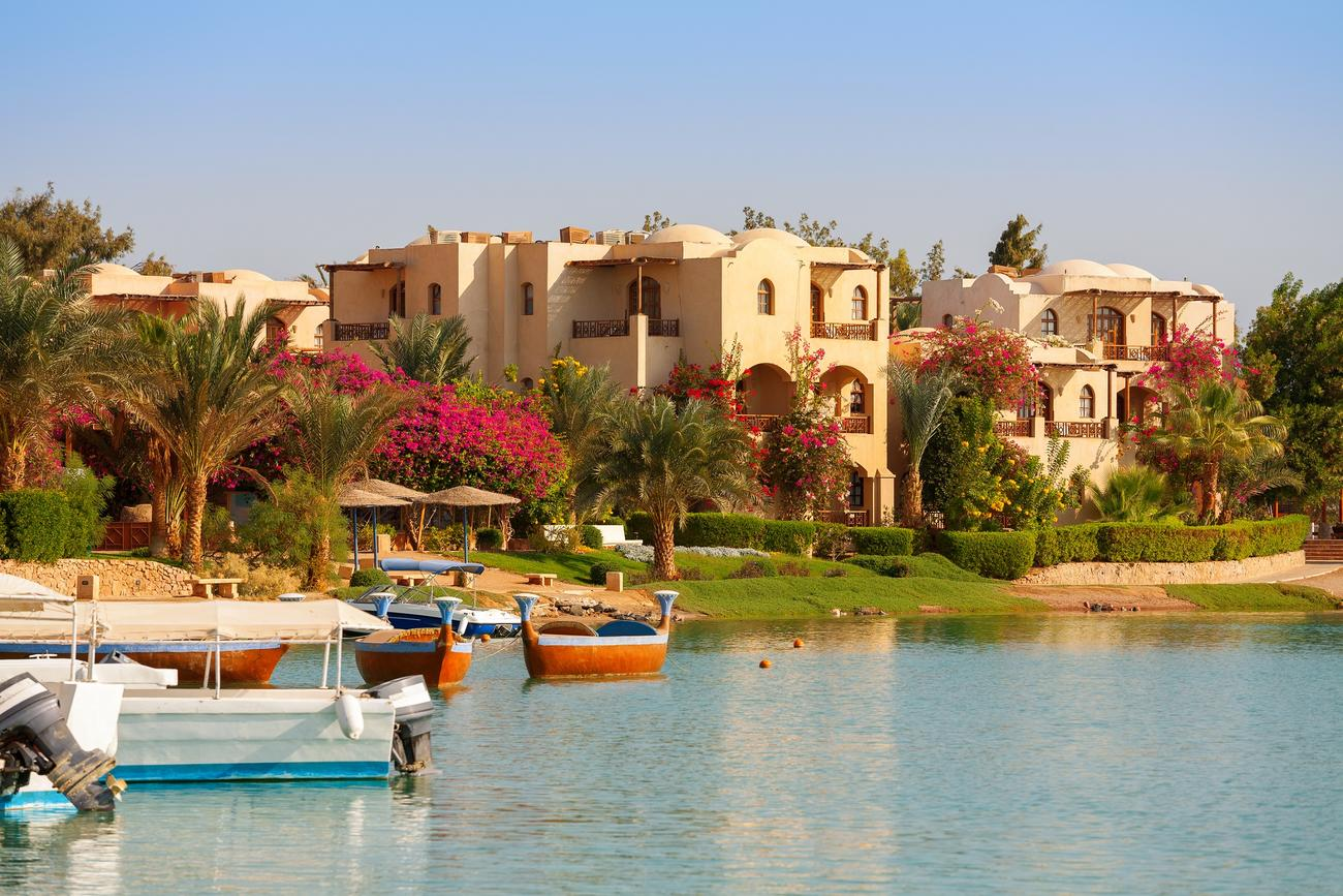 the shore of El Gouna