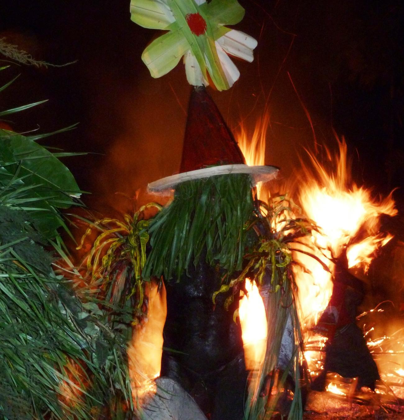 Fire festival in Papua New Guinea