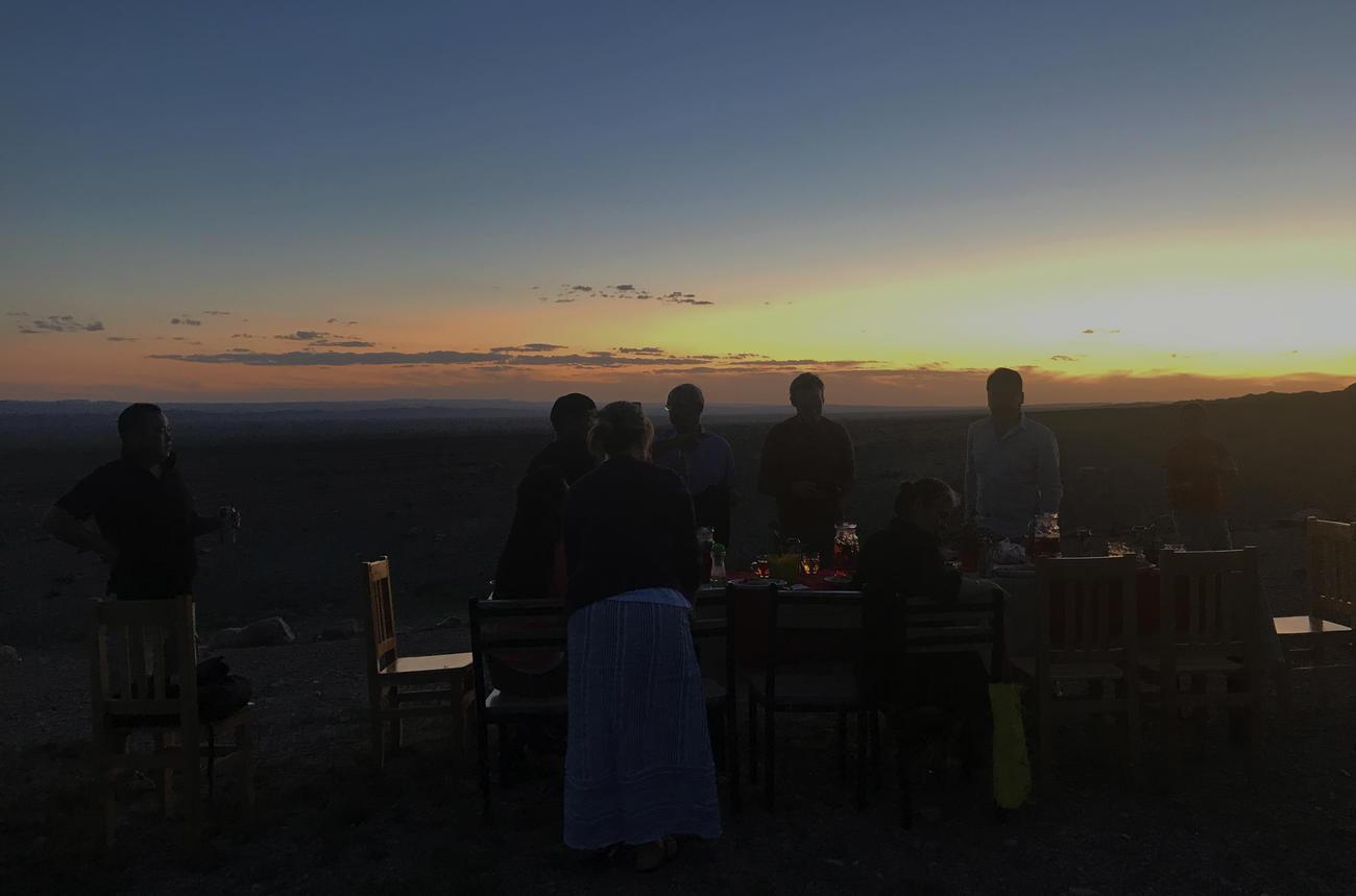 sunset mongolia