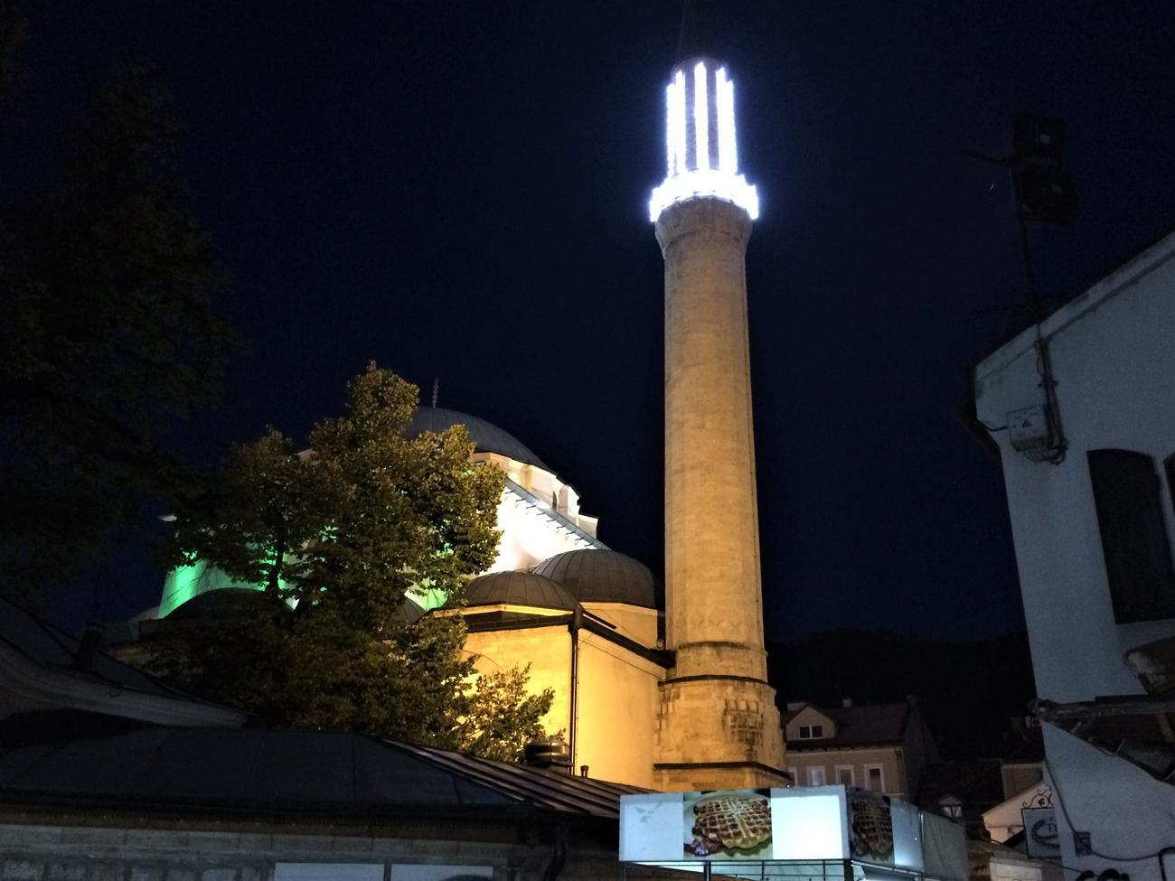 Gazi Husrev-bey Mosque at night