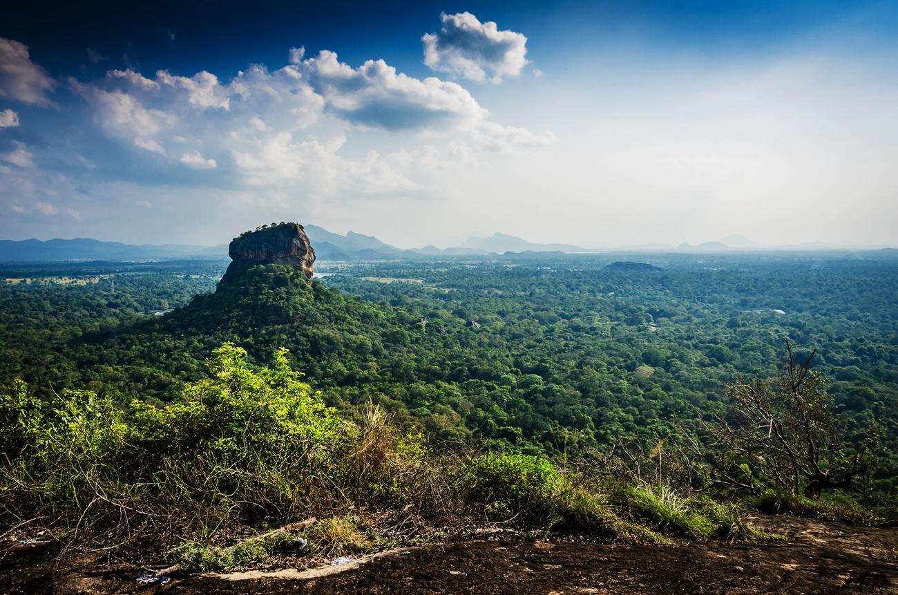 Visit Sigiriya, also known as lions rock