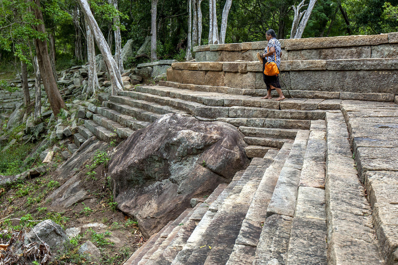 Visit the Ritigala Monastery when in Sri Lanka