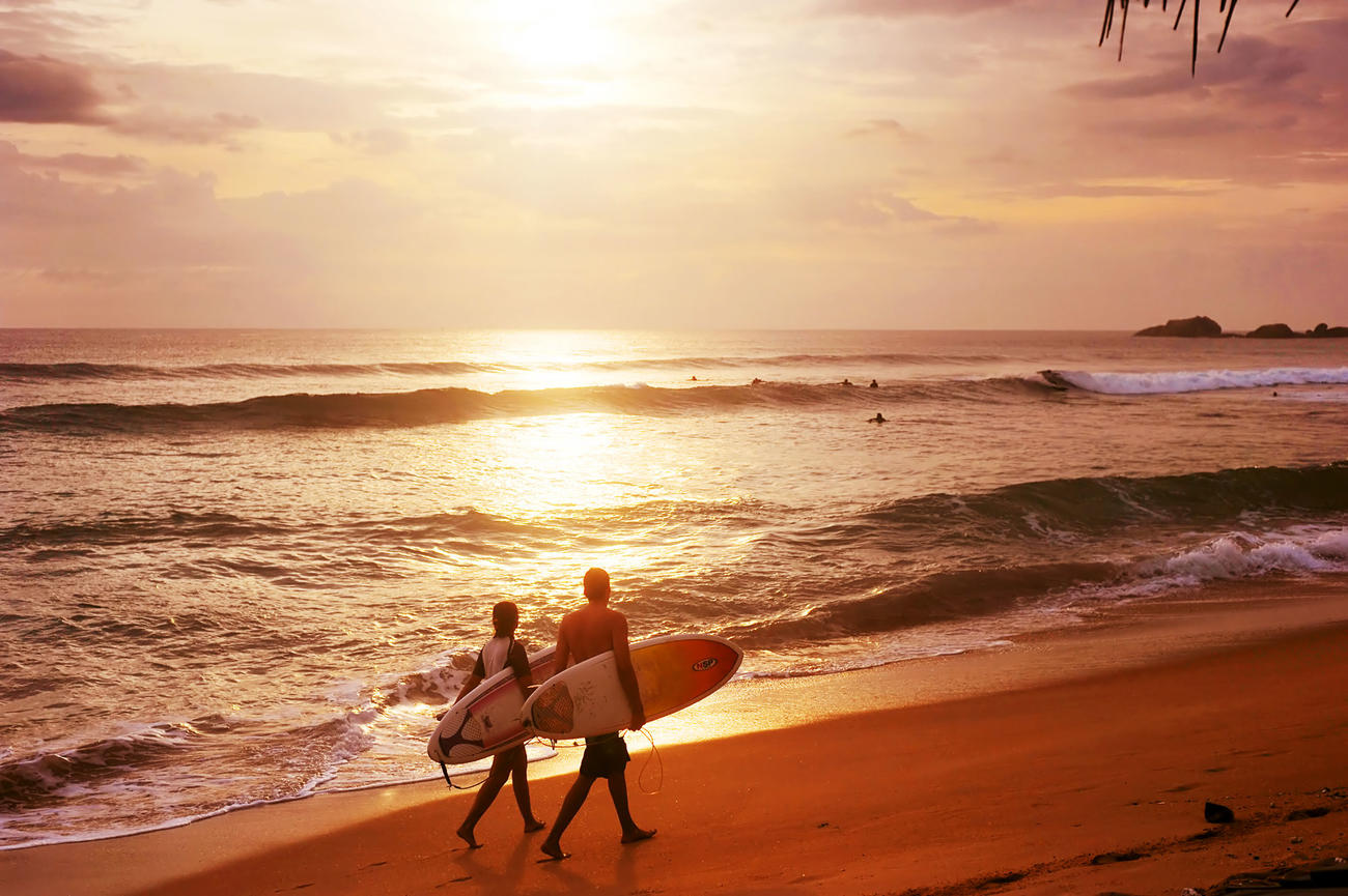 Learnt to surf in Sri Lanka