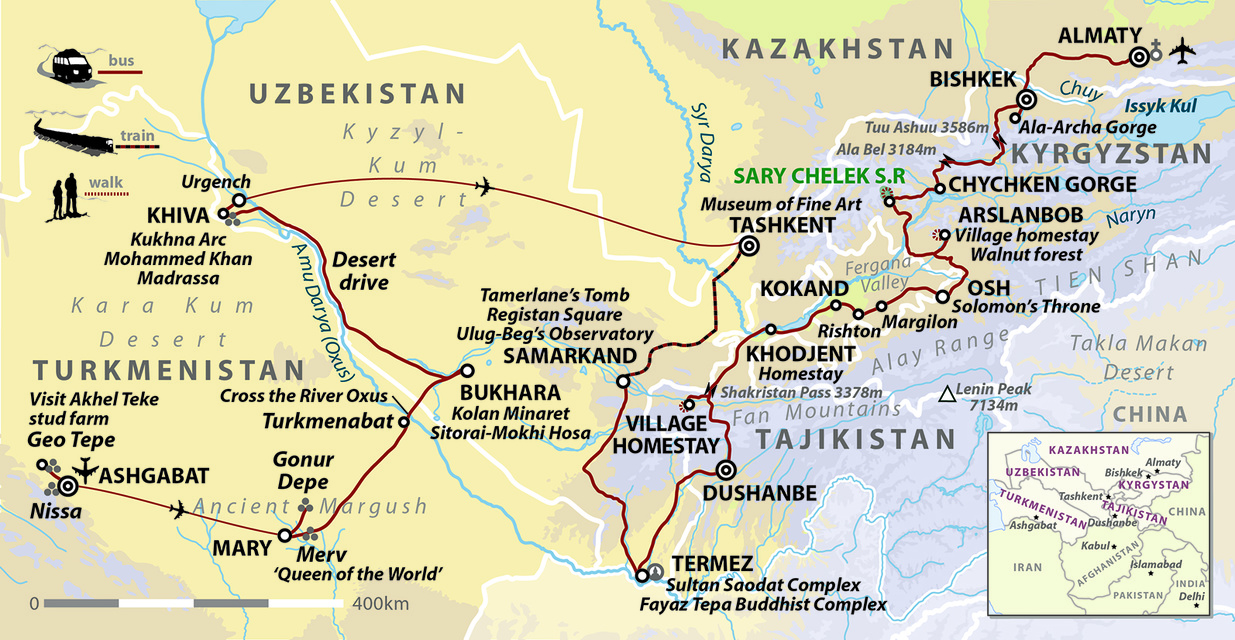 Silk Road: The Five 'Stans of Central Asia