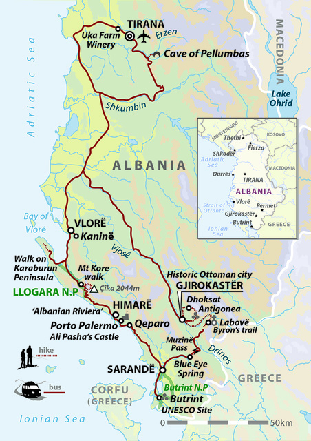 Walking In Southern Albania - Coastal Trails & Ancient Empires