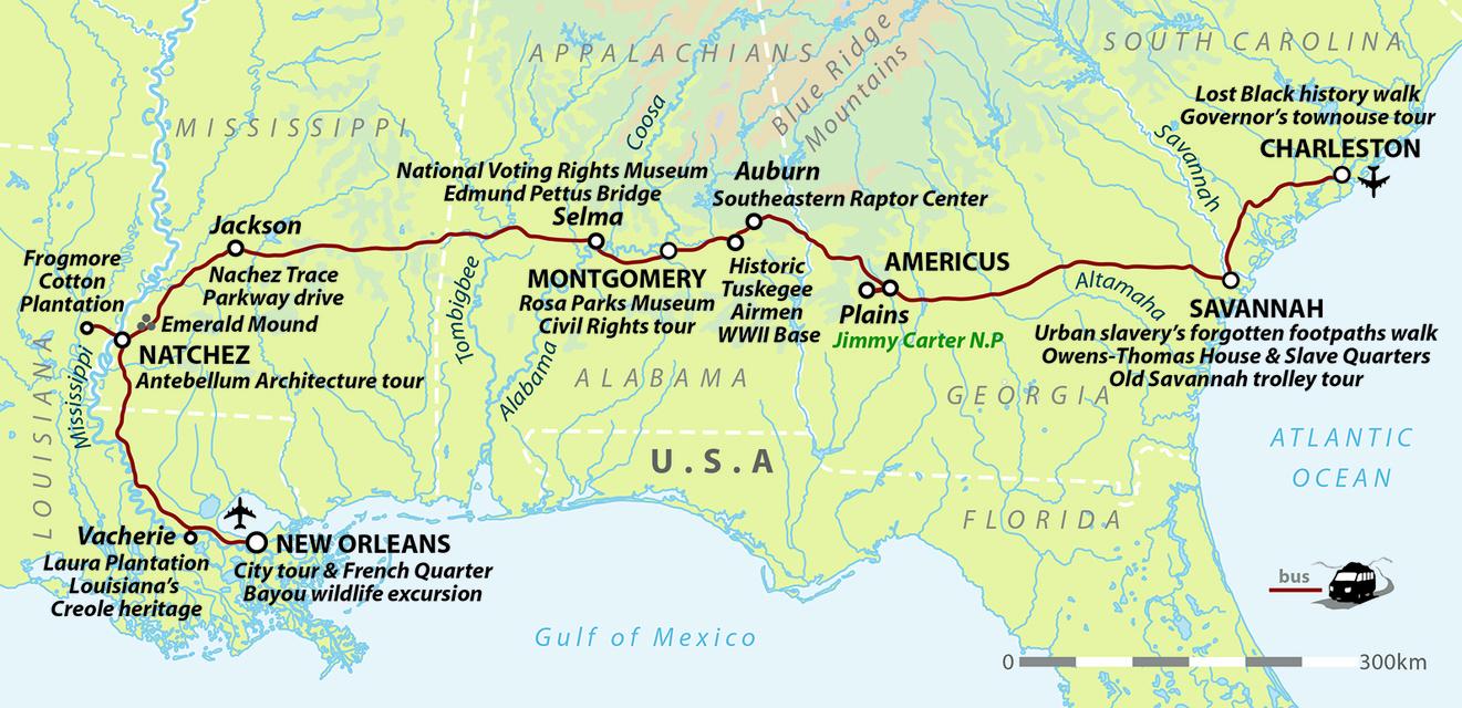Journey Through America's Deep South