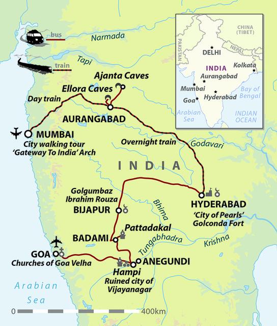 Heart of India: Mumbai, Hampi and Goa