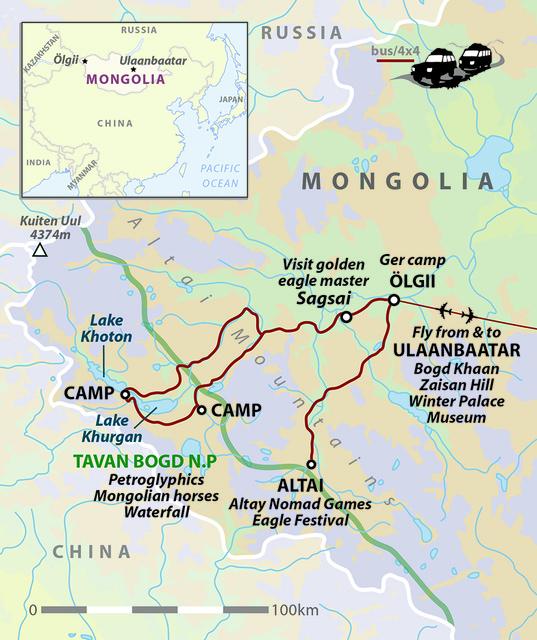 Mongolia Altai Mountains Eagle-Hunting Festival Tour
