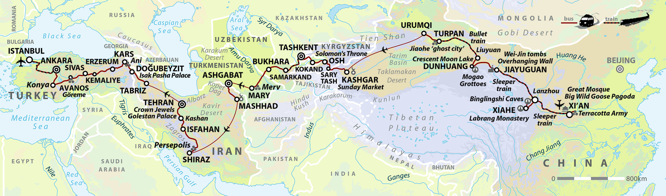 The Great Silk Road Adventure: Xi'an to Istanbul