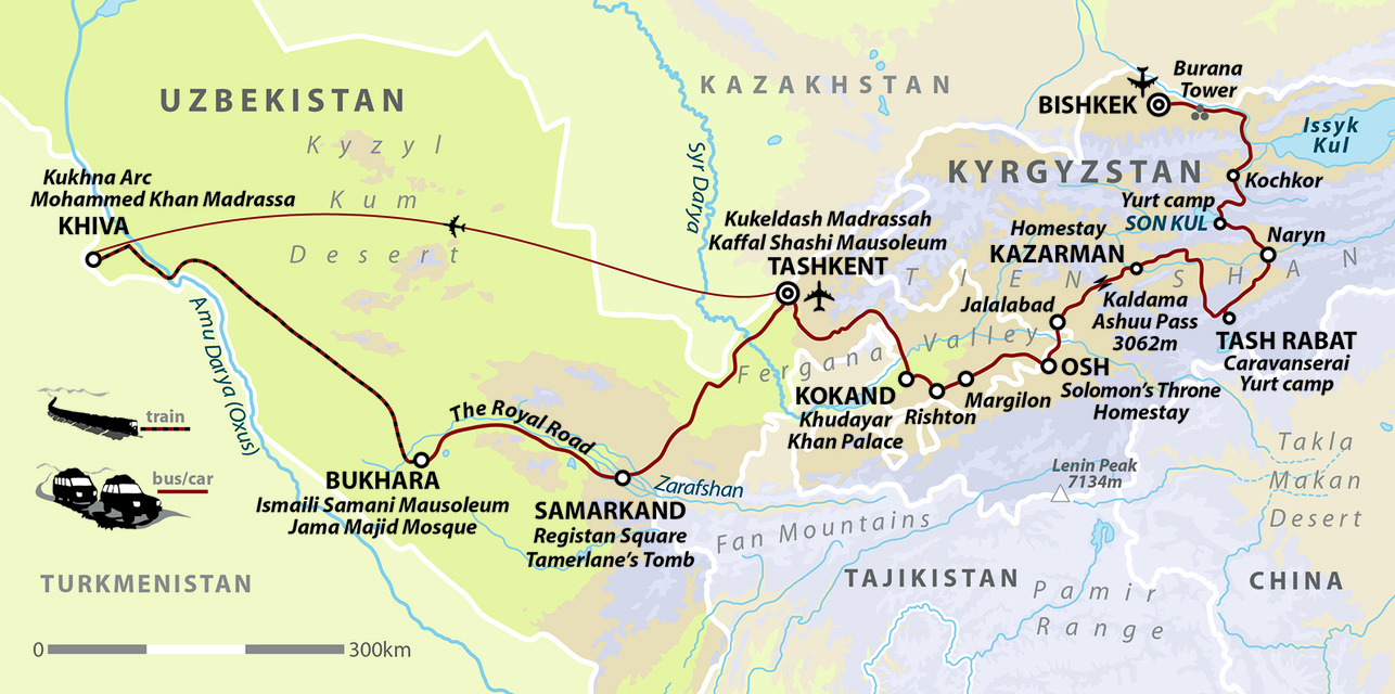 Kyrgyzstan & Uzbekistan - Mountains and Cities of the Silk Road