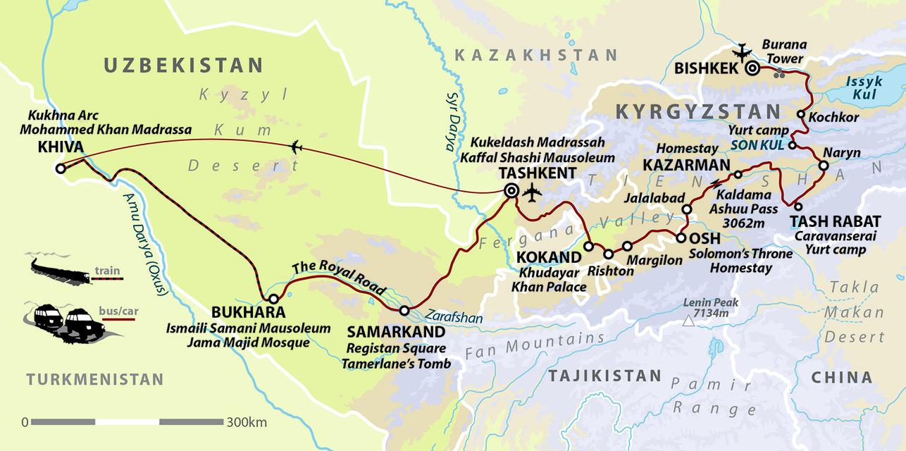 Kyrgyzstan & Uzbekistan - Mountains and Cities of the Silk Road