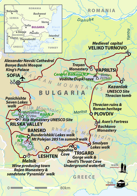 Walking in Bulgaria: Epic Landscapes of Ancient Thrace