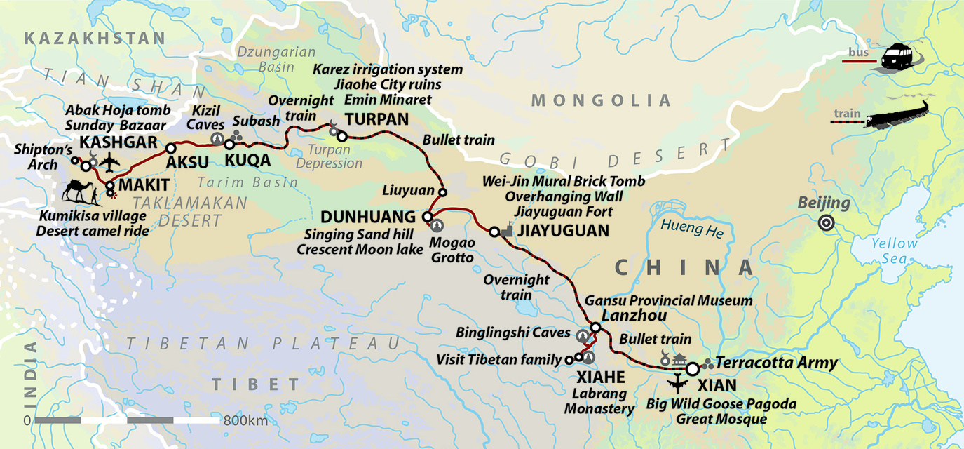 Chinese Silk Road Taklamakan Adventure