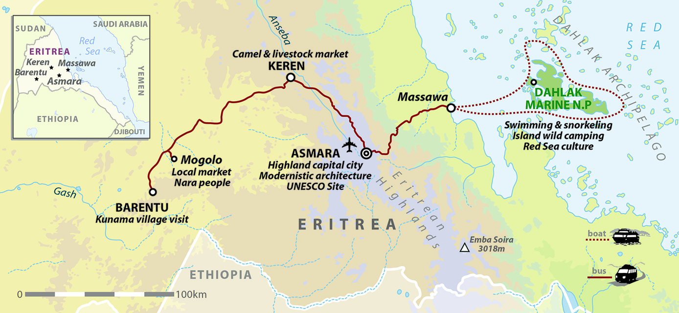 Discover Eritrea: Highlands & Dahlak Archipelago of The Horn of Africa