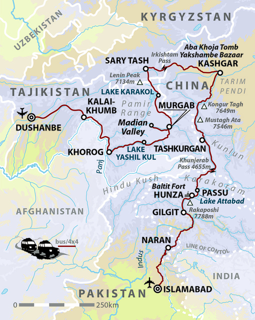 Along the Pamir & Karakoram Highways: Tajikistan, Kyrgyzstan, China & Pakistan