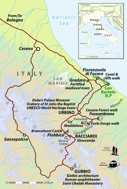 Italy: Walking and Wine in the Apennines