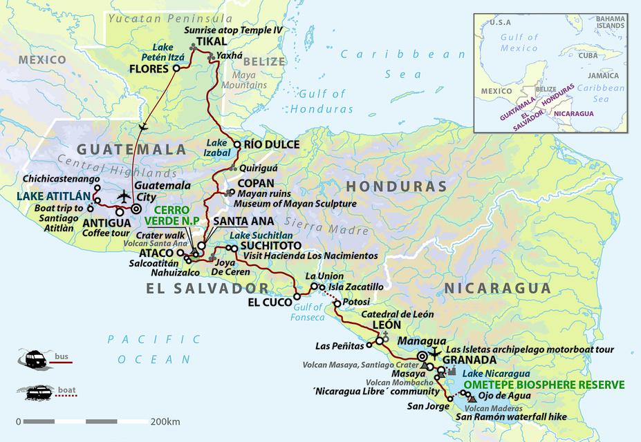 Central American Odyssey: Nicaragua, El Salvador, Honduras & Guatemala